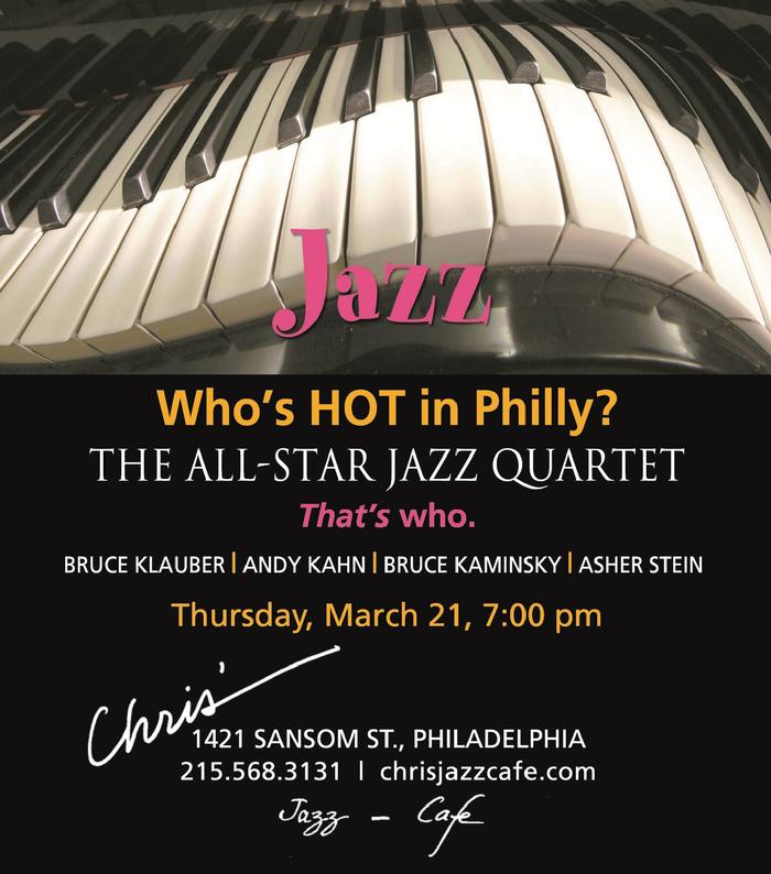 All Star Jazz Quartet at Chris' Jazz Cafe Philadelphia